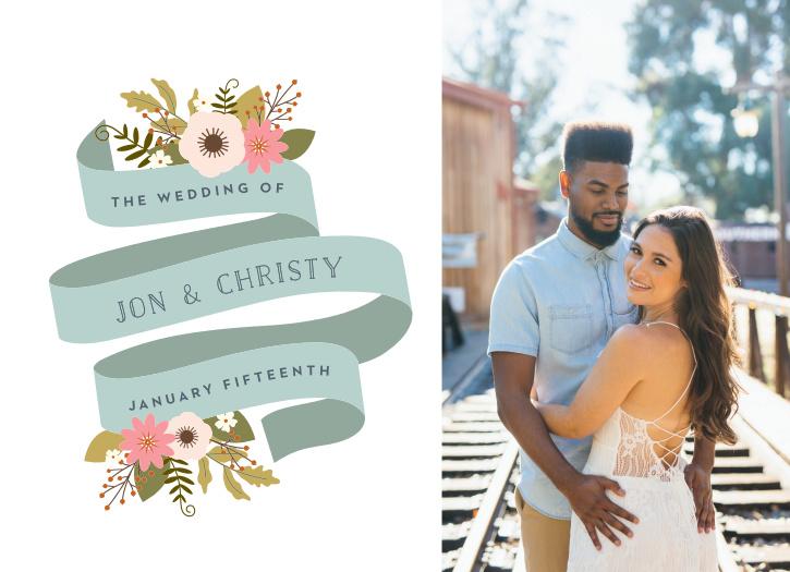 Retro Ribbon Wedding Invitations