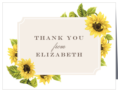 Sunflowers Wedding Thank You Cards