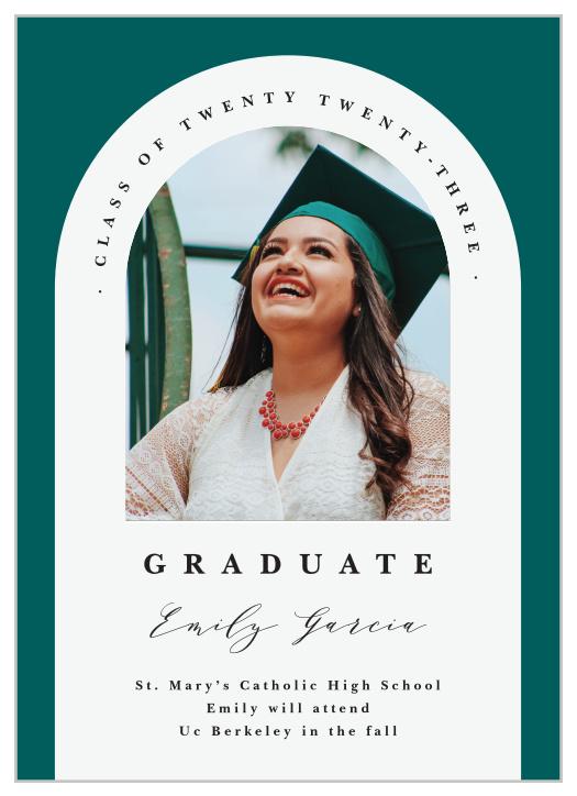 College Graduation Foil Pressed Graduation Announcement Senior Graduation Announcement Real Gold Foil Printing High School Graduation
