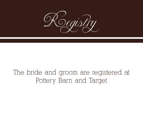 Photo Ribbon Registry Cards