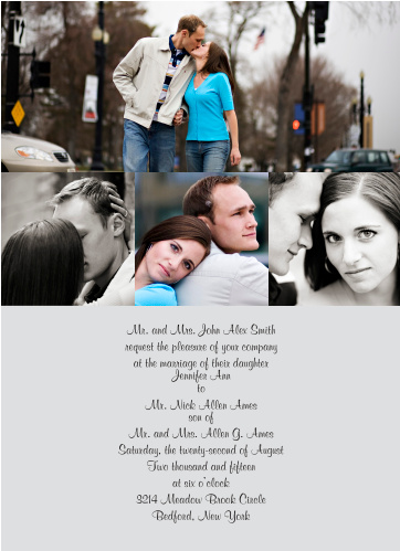 Perfectly Personalized Portrait Wedding Invitations