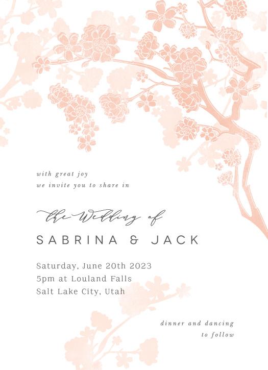 Tree Blossoms Wedding Invitations