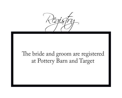Timeless Classic Registry Cards