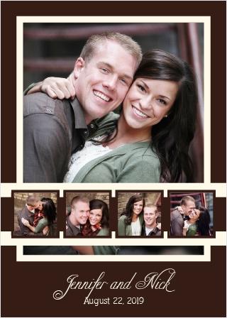 Photo Ribbon Wedding Invitation