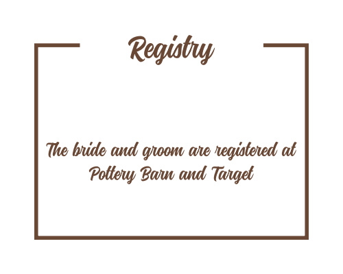 Have and to Hold Registry Cards