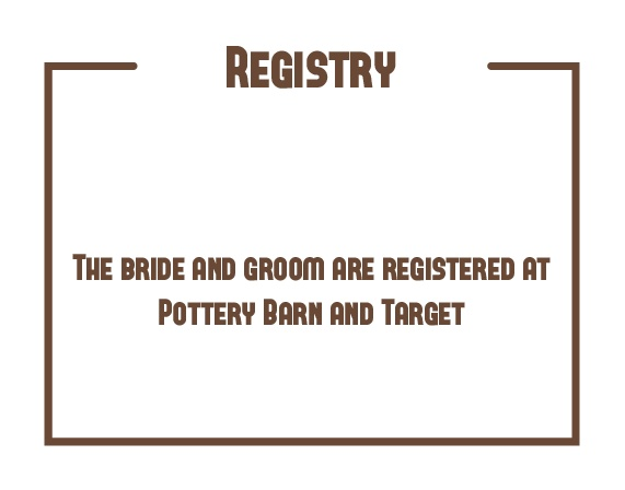 The Have & to Hold Registry Cards