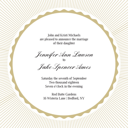 Shining Bright Wedding Invitations