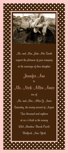 Polka Dot Passion Wedding Invitations