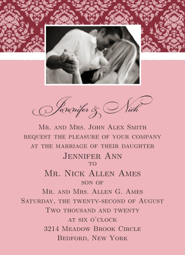 Completely Centered Wedding Invitations