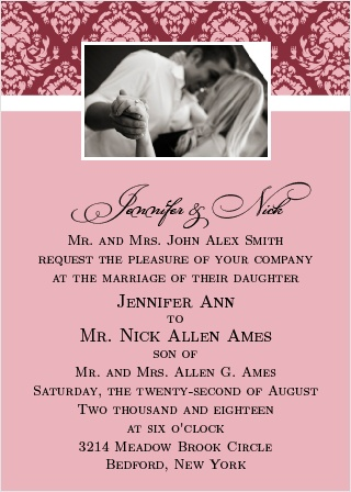 the completely centered wedding invitation