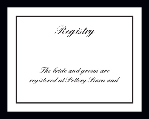 Classic Sophistication Registry Cards