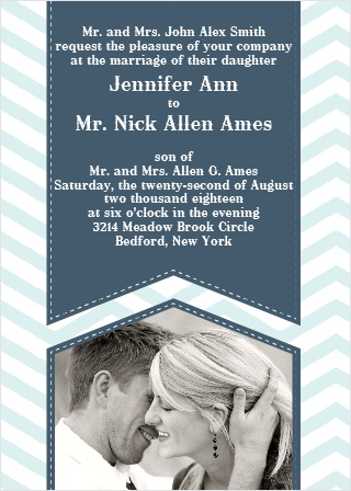 The Chevron Arrow - Portrait Wedding Invitation