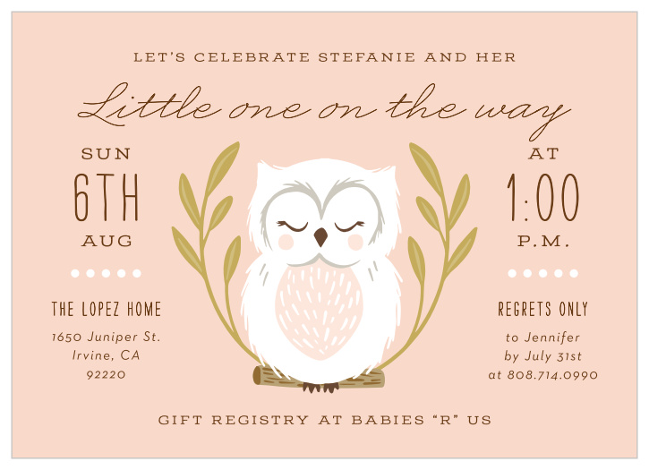 photograph relating to Free Printable Owl Baby Shower Invitations referred to as Owl Youngster Shower Invites - Game Your Shade Structure Absolutely free!