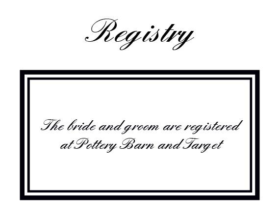 The Formal Ticket Registry Cards