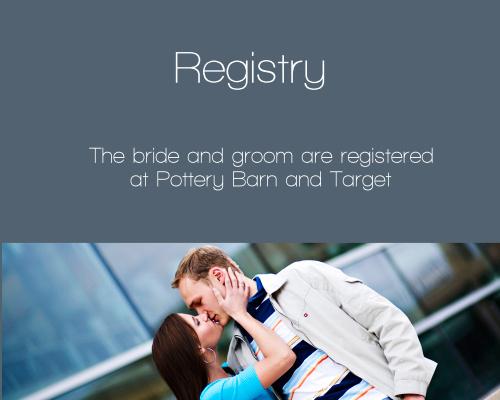 True Love Story Registry Cards