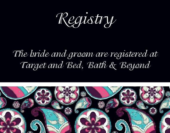 The Forever Paisley Registry Cards