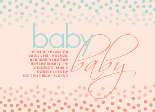 photograph relating to Free Printable Twin Baby Shower Invitations named Child Shower Invites for Twins Straightforward Invite