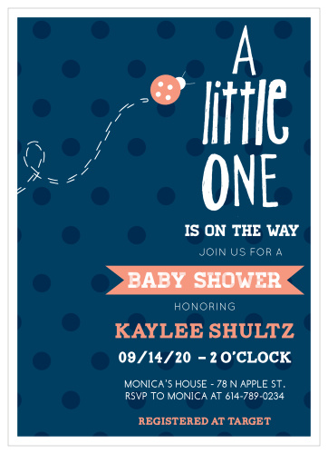 Ladybug Baby Shower Invitations Match Your Color Style Free