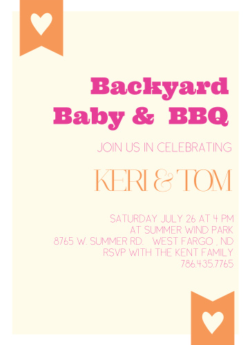 bbq baby shower invitations match your color style free