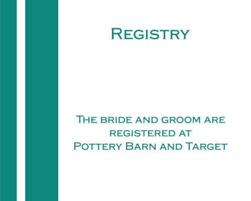 Simple Lines Registry Cards