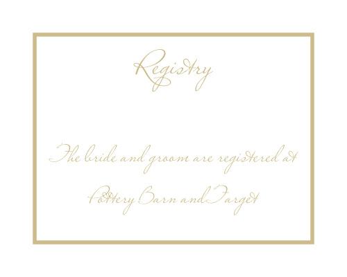 Simple Square Registry Cards