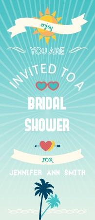 sunshine rays bridal shower invitation