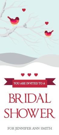 love birds bridal shower invitations