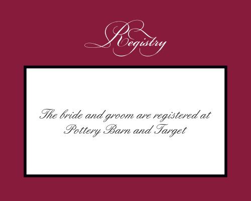 Simply Formal Registry Cards