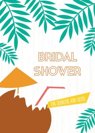 tropical drink bridal shower invitation