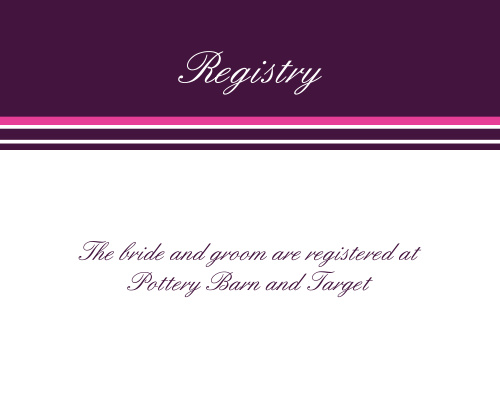 Ribbon and Damask Registry Cards