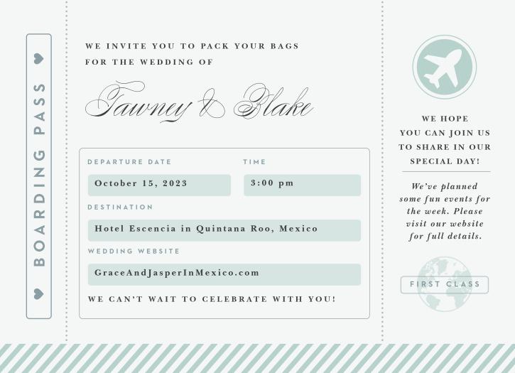 Boarding Pass Wedding Invitations.Boarding Pass Wedding Invitations By Basic Invite