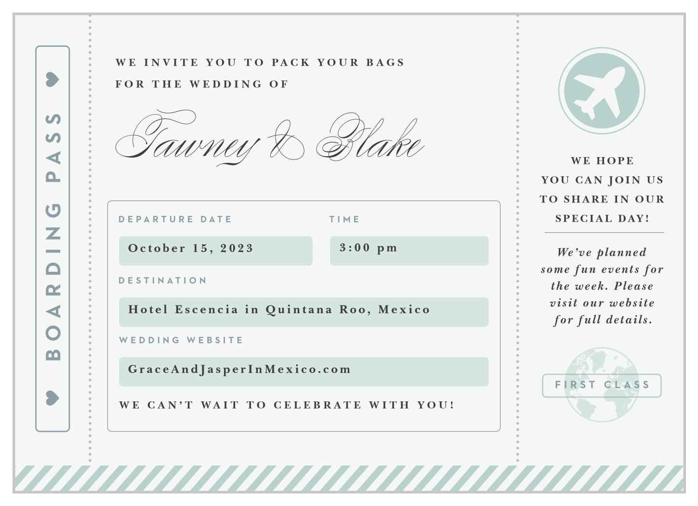 Boarding Pass Invitations Golon Wpart Co