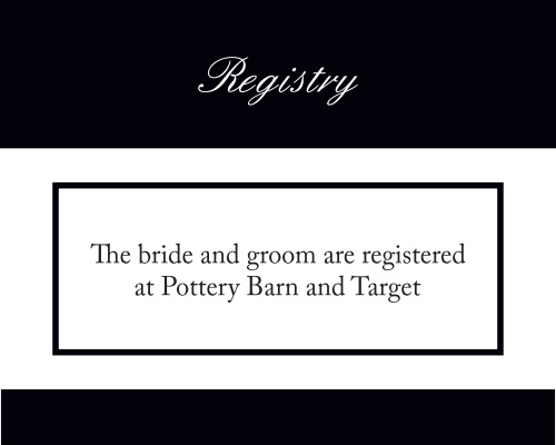 Photo Split Registry Cards