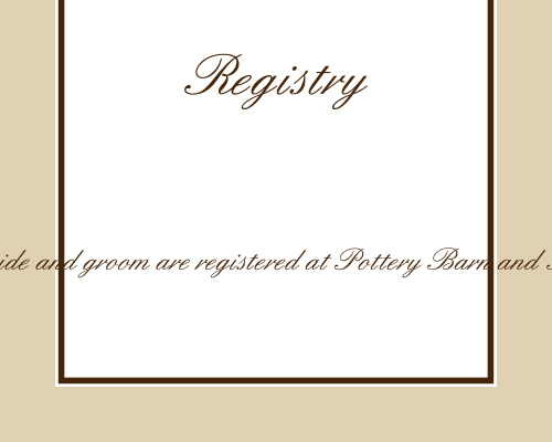 Vintage Classic Registry Cards