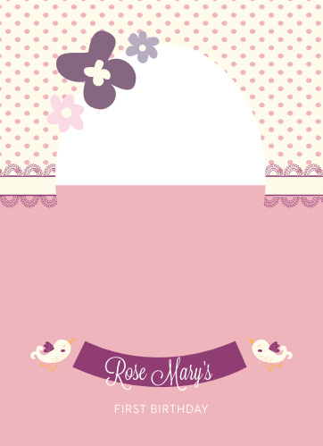 Fancy Baby First Birthday Invitations