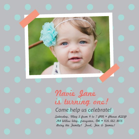 Scrapbook First Birthday Invitations