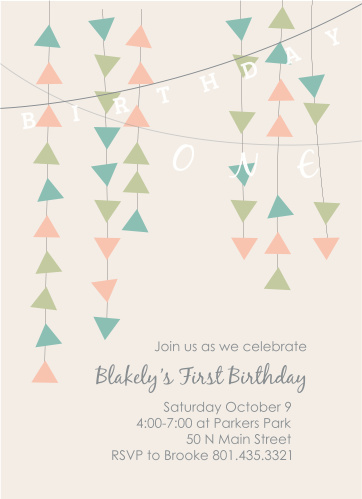 burlap banner first birthday invitations