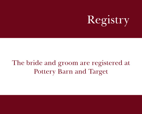 Now And Forever Registry Cards
