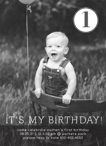 Its My Birthday First Invitations
