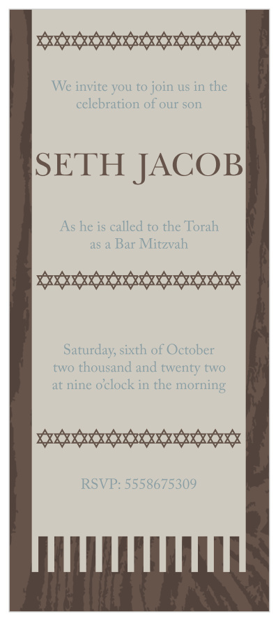 Photo Bar Mitzvah Invitations - Match Your Color & Style Free!