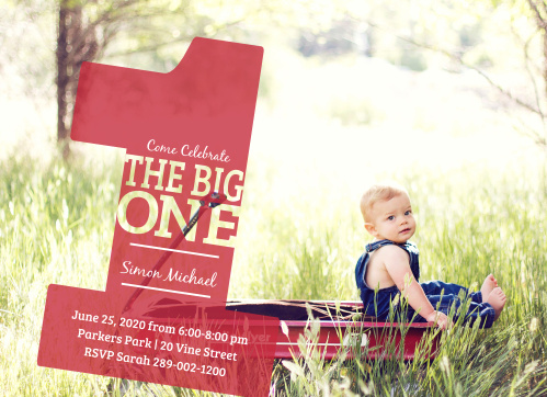 Big One First Birthday Invitations