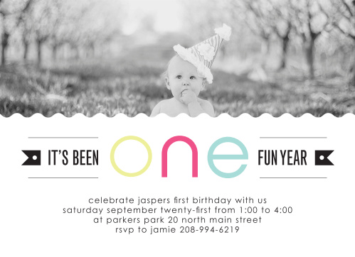 one fun year first birthday invitations