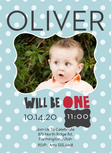 Will Be One First Birthday Invitations