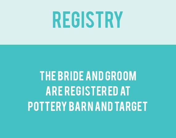 The Minimalist Monogram Registry Cards