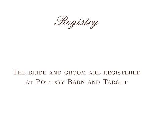 Simple Luxury Registry Cards