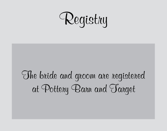 The Perfectly Personalized Registry Cards