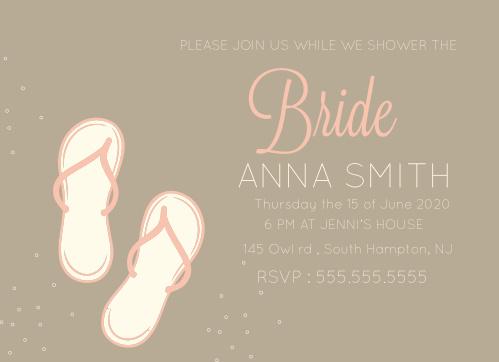 Flip Flop Bridal Shower Invitations By Basic Invite
