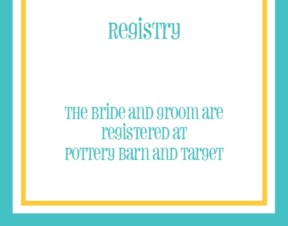 The Bordered Fun Registry Cards