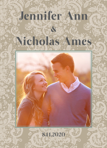 Elegant Lace Wedding Programs