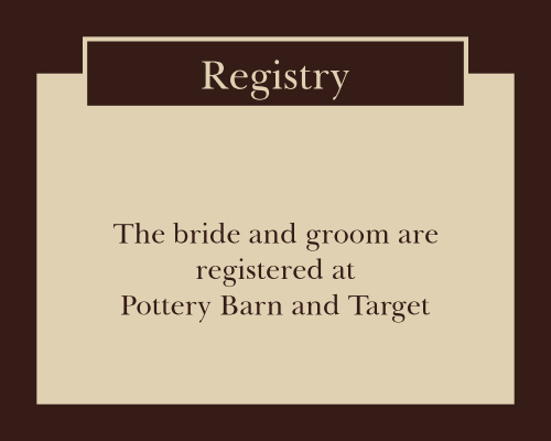 Monogram Square Registry Cards